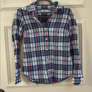 Vineyard Vines Plaid Button Down Shirt Size 2